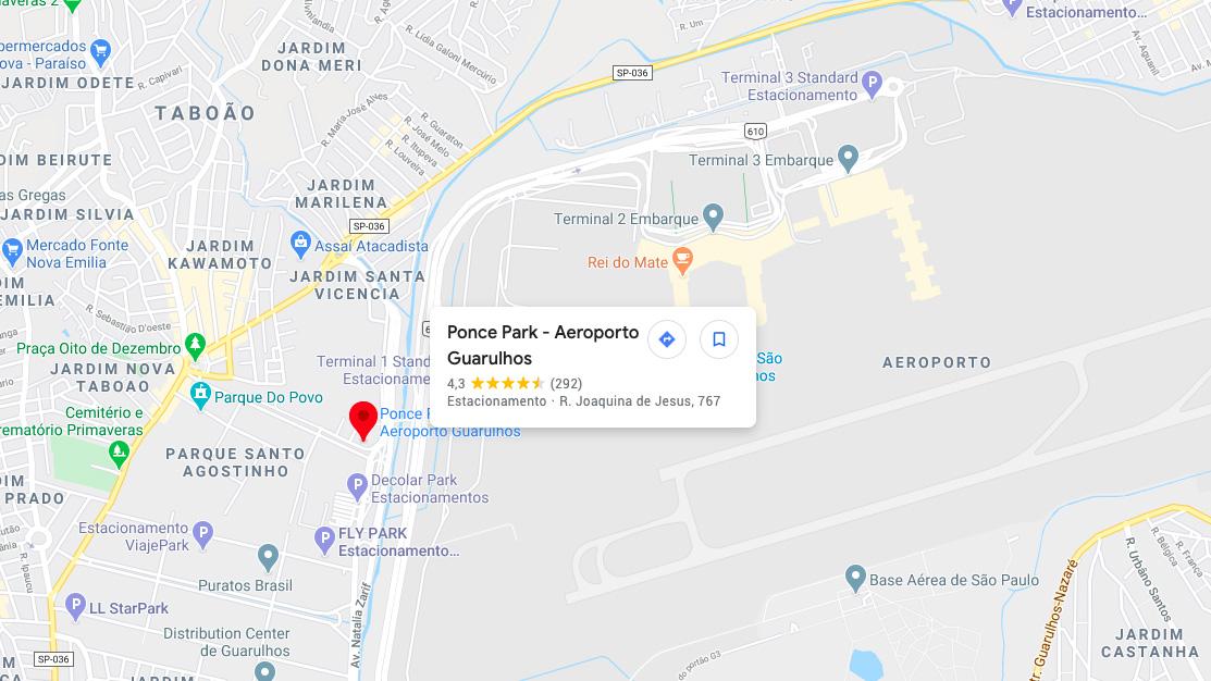 Estacionamento mais próximo do Aeroporto de Guarulhos